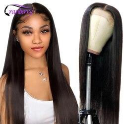 Волосы Cranberry 4X4, волосы на застежке, 100% Реми, бразильские волосы, парики на шнурках, прямые человеческие волосы, парики для черных женщин 10-26 д...