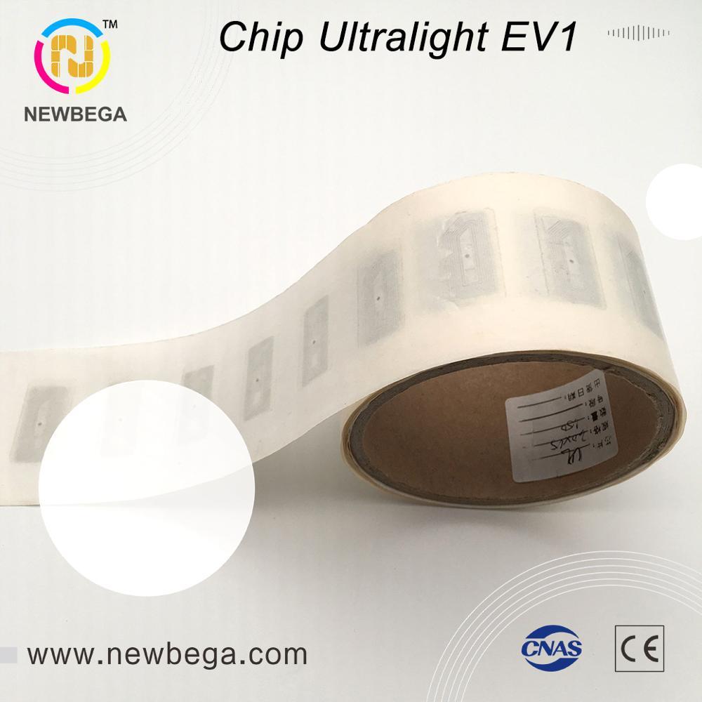 10pcs RFID NFC sticker Original genuine Ultralight EV1/ Ultralight C wet inlay tag 13.56MHz ISO 14443 A 30×15mm free shipping