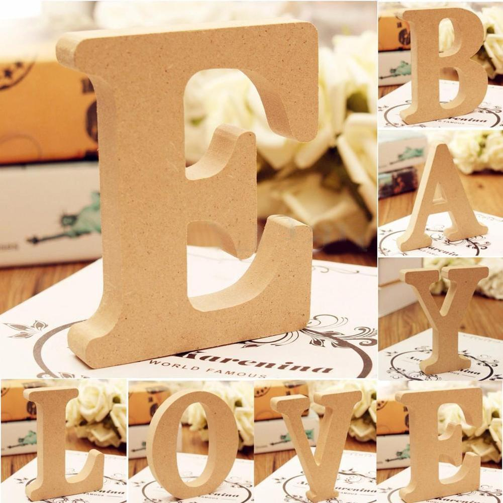 Freestanding A-Z Wood Wooden Letters Alphabet Hanging Wedding Home Party Decor Decorative Letters Numbers New