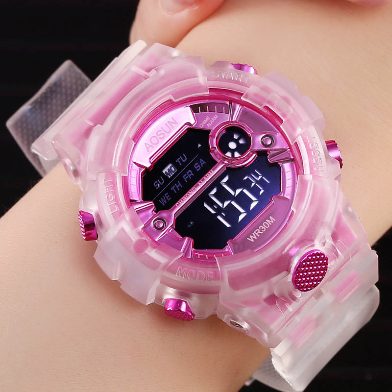 UTHAI CE35 Children Sport Watch for Girls Boys Teens Kid Digital Electronic Clocks Wristwatch