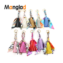 Manglad PU Leather Tassels Women's Bag Charms Pendant Creative Keychain Bag Ornament Handle Bags Ribbons Adornment Accessories