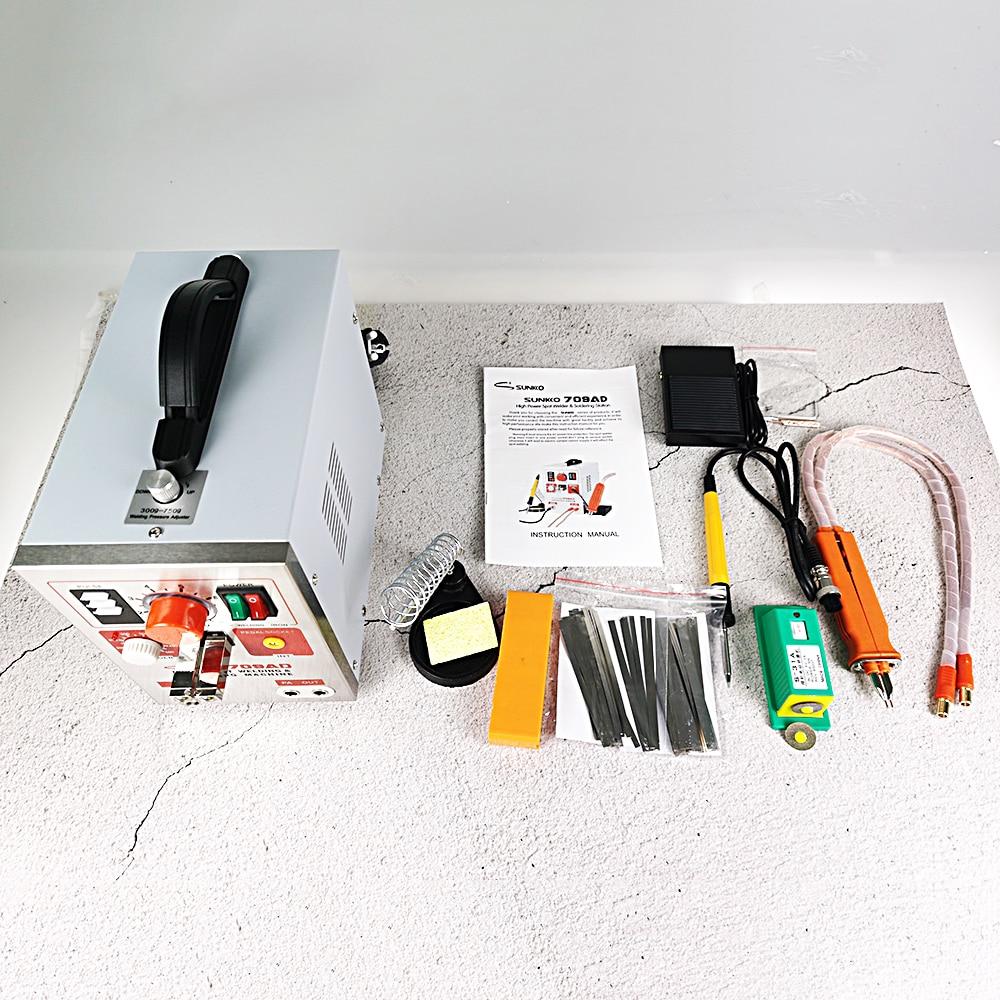 Spot Welding Machine 3 2KW High Power Maximum Welding Thickness 0 35mm LED Lighting SUNKKO 709AD With 70B Welding Pen 18650