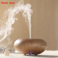 Diffuseur aromathérapie Diffuseur humidificateur Diffuseur Huile Essentiel 140ml LED Grain de bois Humidificador brumisateur aromathérapie pour la maison
