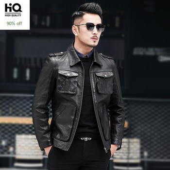 Autumn New Brand Sheepskin Moto Biker Thin Short Coats