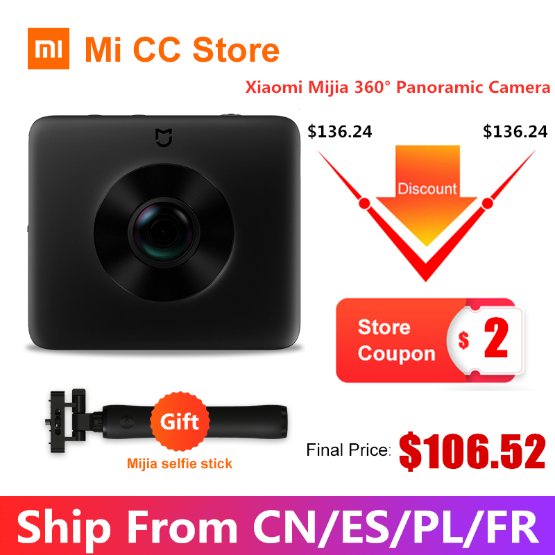 Top SaleXiaomi Camera-Kit Panorama-Camera Sphere Action 360 In-Stock 1600mah-View Sports Video-Recording