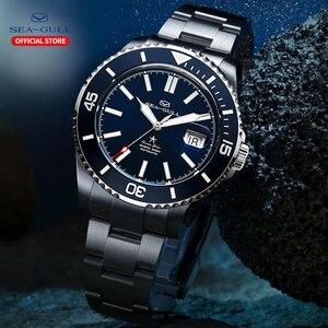 Image 4 - Seagull Mannen Automatische Mechanische Horloge Fashion Business Rolex Ocean Star Horloge Saffier Kristal 200M Waterdicht Horloge 816.523