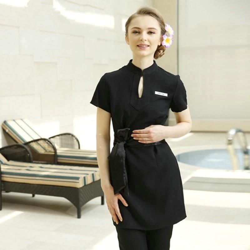 Spa Massage Beautician Uniform Women Beauty Salon Waitress Beautiful Clinical Uniforms For Woman Feamle Dress