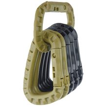 Webbing Lock Grimlock Attach quickdraw Buckle Snap Shackle Carabiner Clip Mountain Molle Camp Hike Backpack climb Outdoor&(China)