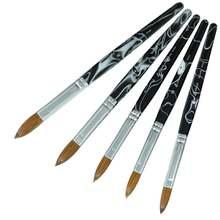 Черный белый цвет 100% чистый акриловая кисточка для ногтей