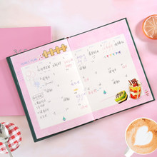 Happy weekly planner desk memo notebook monthly day planner organizer Weekly Planner Notebook Stationery 256 Sheets(China)