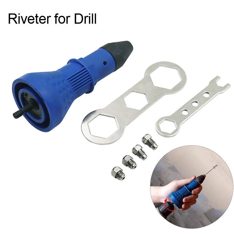 Core Electric Nut Rivet Gun Tool Set Part Riveter For Drill Cordless Rivet Electric Drill Insert Nut Tool Adapter Accessories