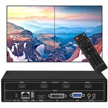4 канала видео настенный контроллер HDMI видео процессор 2x2 с HDMI VGA DVI USB вход