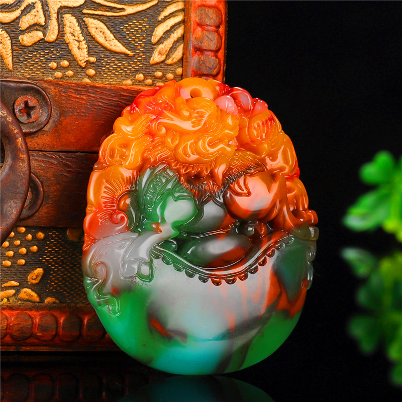 Natural Color Hetian Jade Stone Dragon Pendant Chinese Jadeite Jewelry Charm Reiki Pixiu Amulet Hand Carved Gifts For Women