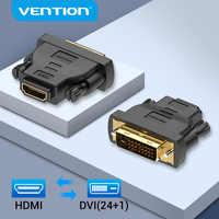 Vention-adaptador DVI a HDMI, DVI-D bidireccional 24 + 1 macho a HDMI hembra, conector convertidor de Cable para proyector, TV, HDMI a DVI