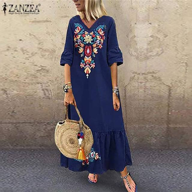 what a fun long and artistic dress,  3