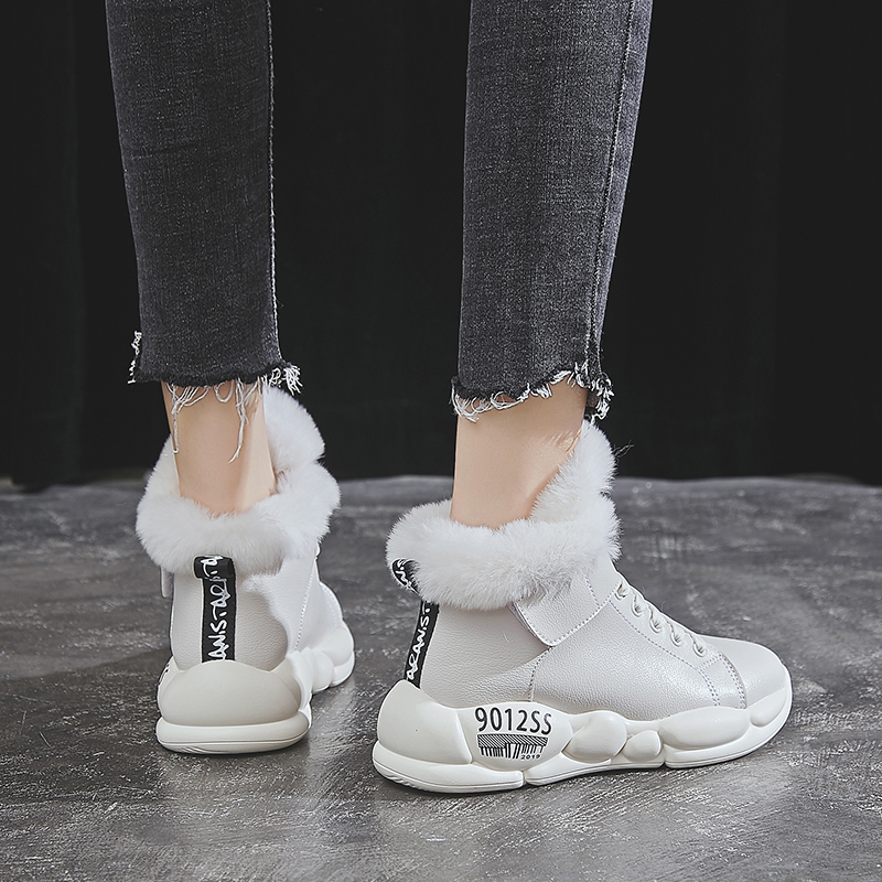 YRRFUOT Winter Fashion Women's Cotton Shoes Outdoor Keep Warm Women Snow Boots Trend Hot Sale Sneakers High Quality Women Shoes 47