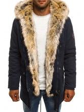 все цены на 2019 Fashion Winter New Jacket Men Warm Coat Fashion Casual Parka Medium-Long Thickening Coat Men For Winter