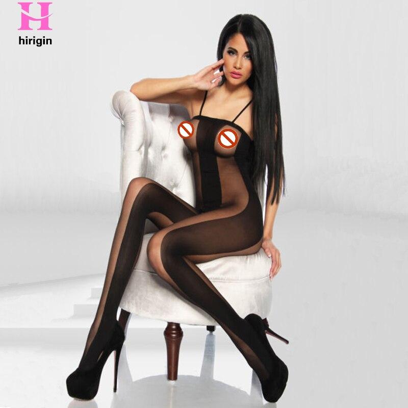Hot Sell Fashion Babydoll Lingerie Bodystocking Bodysuits Sleepwear Black Sexy Fishnet Bodysuit Women's Pantyhose Open Crotch