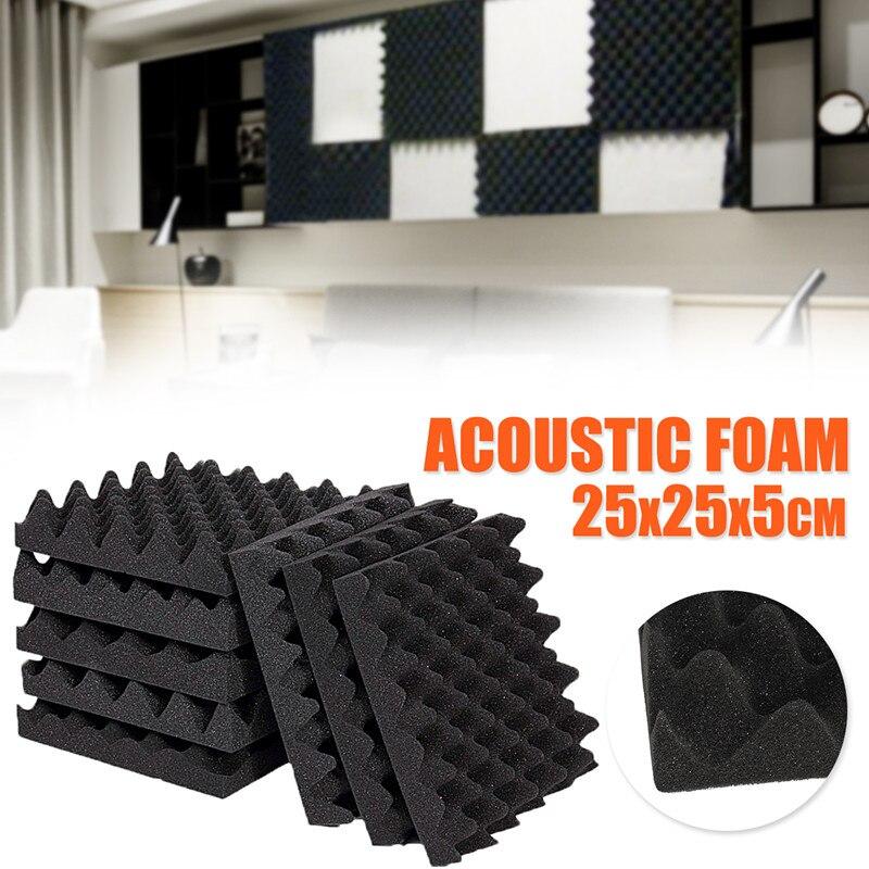 1PC Soundproofing Foam 25X25X5CM Studio Acoustic Foam Soundproof Absorption Treatment Egg Profile Tile Wedge Soundproof Foam