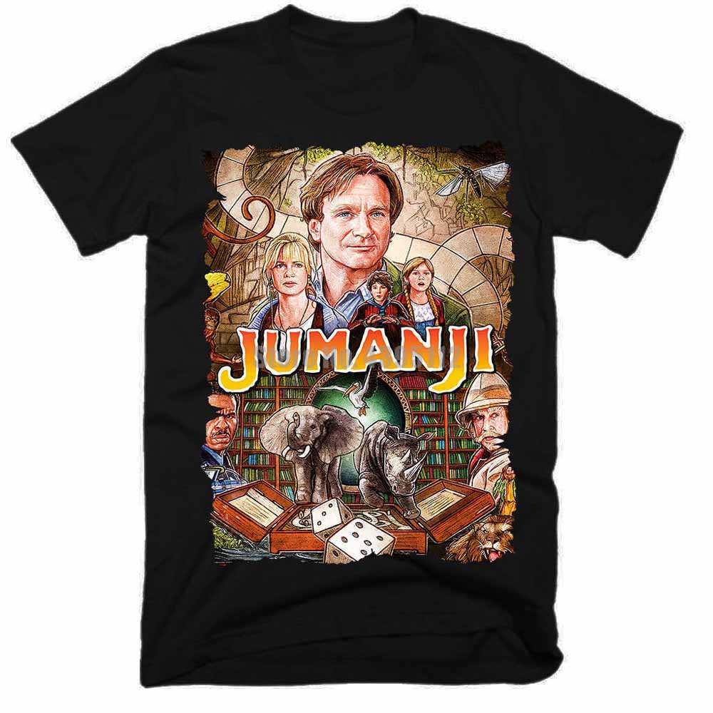 Jumanji Movie Mens Tee Shirt Men Streetwear 2019 Tshirt Gym King T Shirts 100% Cotton T-Shirt Plus Size Men