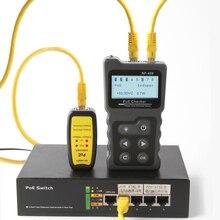 ЖК-тестер сетевого кабеля Lan тестер с портом PoE Checker Inline PoE Тестер напряжения и тока с кабелем тестер проверки Ethernet