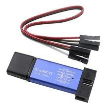 ST LINK V2 Mini STM8 STM32, Programa de descarga de emulador, Unidad de programación (tres colores aleatorios)