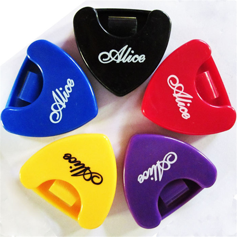 Guitar Pick Holder Plastic Plectrum Case with Self Adhesive Sticker Guitar Pick Storage Boxes for  1-3 Pieces Guitar Picks 1
