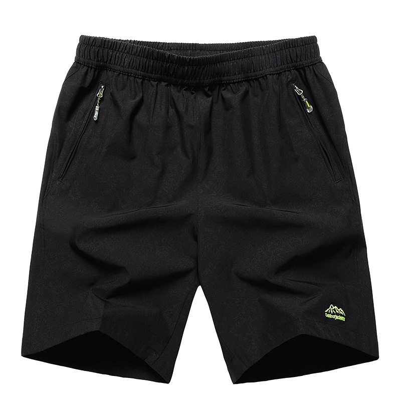 Tide Nice Summer Solid Leisure Men Shorts Casual Quick-drying Short Trousers Loose Elastic Waist Short Big Size 9XL 9XL 11XL