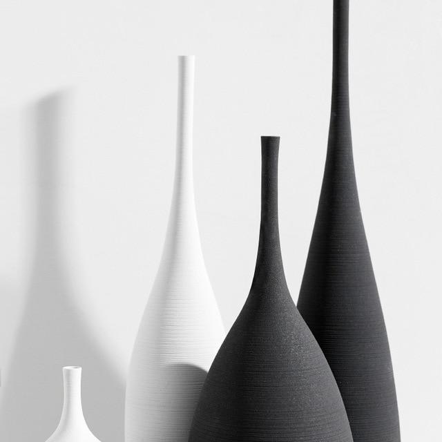 Jingdezhen Modern Minimalist Handmade Art Zen Vase Ceramic Ornaments Living Room Model Home Decoration 4