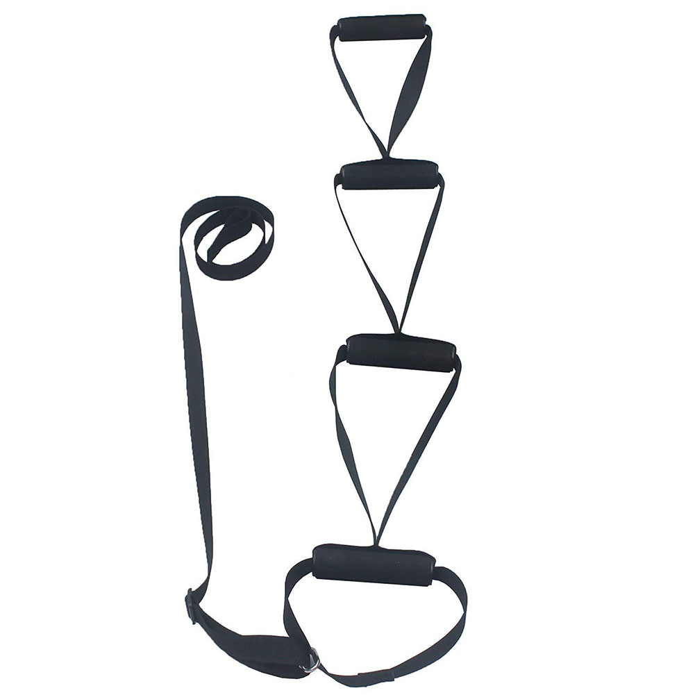 Bed Rope Ladder Nylon Webbing Sit Up Assistant Non-slip Handle Home Adjustable Firm Elderly People Pull-up Strap Supportive