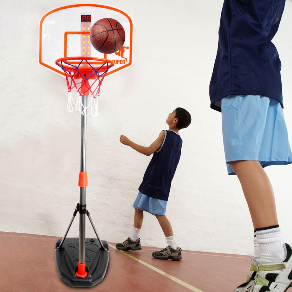 97-170CM Basketball Stands Height Adjustable Kids Basketball Goal Hoop Training Set Basketball For Boys Outdoor/indoor Practice
