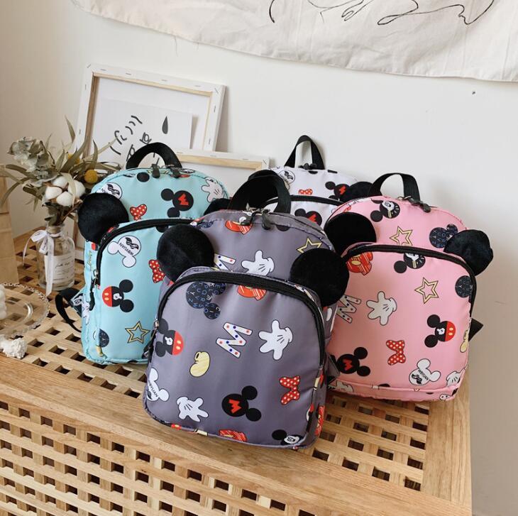 New Fashion Children School Bags Cartoon Mickey Backpack Baby Toddler Kids Book Bag Kindergarten Boy Girl Backpack