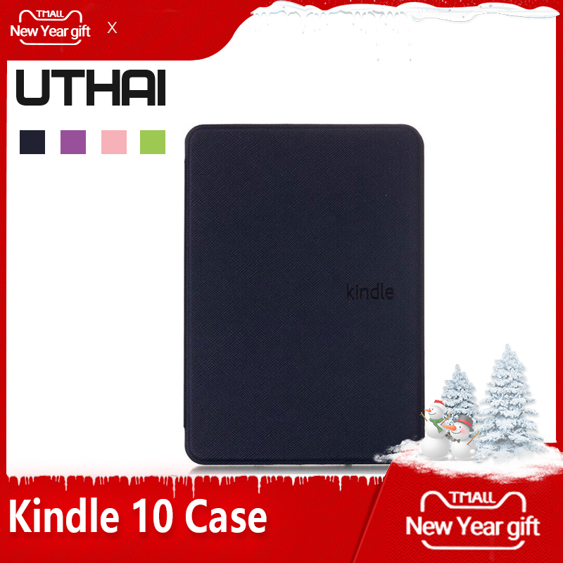 UTHAI K10 2019 For Amazon New Kindle 10th Generation 2019 Version Case Shell Leather Cover For Kindle 10 Case With Sleep&Wake Up