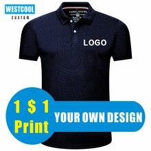 Westcool verão casual homens e mulheres barato polo camisas logotipo personalizado bordado impressão design personalizado 9 cores topos
