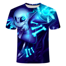 Brand Clear picture skull  T Shirt 3d T-shirt Anime Men Funny Shirts Hip Hop 2017 Japanese Mens Clothes Clothing