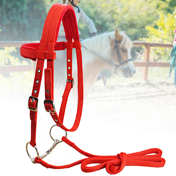 Adjustable Strap Horse Halter Polar Fleece Bridle Winter Riding Equipment With Bit Soft Sports Protective Competition Thicken
