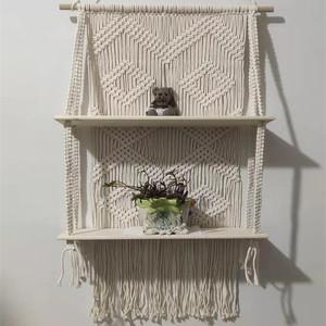 Image 5 - Macrame Hanging Planter Basket Wall handmade plant hanger pot indoor purl edging and wood bead  Party Wedding Home Decoration