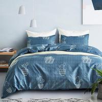 TPFOCUS Carton Printing Bedding Set 3 Pcs/set Duvet Cover Pillowcase Bed Cover Kit Home Textiles Bed Linen|Throw| |  -