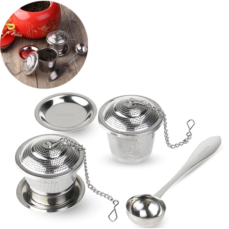 Loose Leaf Tea Infuser Gift Set with Drip Tray /& Tea Scoop USA Seller!