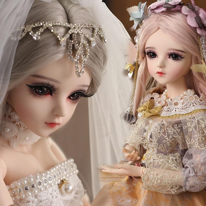 UCanaan/1/3 BJD кукла 18 мяч Jonited куклы с модернизированным макияж полный комплект одежды платье принцессы игрушки для девочек, подарки для детей