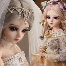 Ucanaan 1/3 bjd boneca 18 bola jonited bonecas com atualizado maquiagem roupas completas princesa vestido meninas brinquedos presentes para crianças