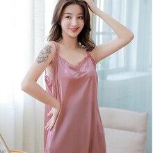 купить Lace Nightgown Women Sleepwear Pyjamas Summer Negligee Babydoll Nightwear Sexy Lingerie Bathrobe Female Nightdress Home Clothes дешево