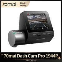 [Aliexpress Black Friday Código promocional:BF2020ES3]70mai Dash Cam Pro 1994p HD Smart GPS Wifi Coche Dvr Vídeo Grabador Control De Voz vision Nocturna 70mai APP connect Modo de estacionamiento del sensor G