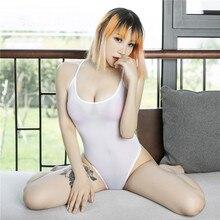 One-Piece Swimsuit Bikini Transparent High-Waist Women Sexy Tight Mujer Suspenders Adjustable