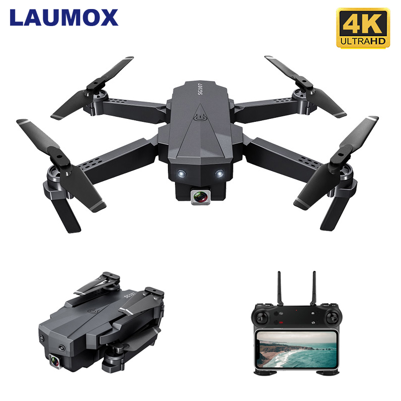 LAUMOX SG107 Mini RC Drone FPV Quadcopter With WIFI 4K 1080P Camera FPV 2 4GHZ Optical Flow Collapsible Dron VS E58 SG106 XS816