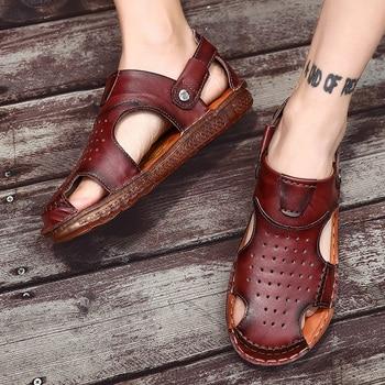 Sandalias para zapatos de deporte blanco de verano con cuchilla para hombre,...