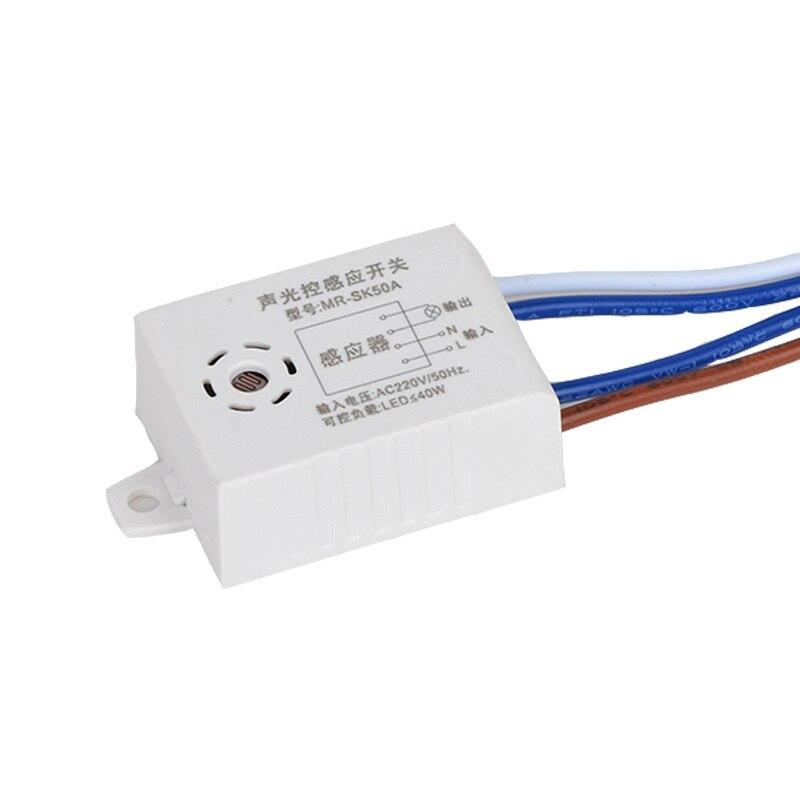 Hbcbb0a6a8c244083bde297103e15240cK - Smart Home Switch 220V 50/60Hz 180-265V 70W Module Sound Voice Sensor Intelligent Auto On Off Light Switch Controller AC