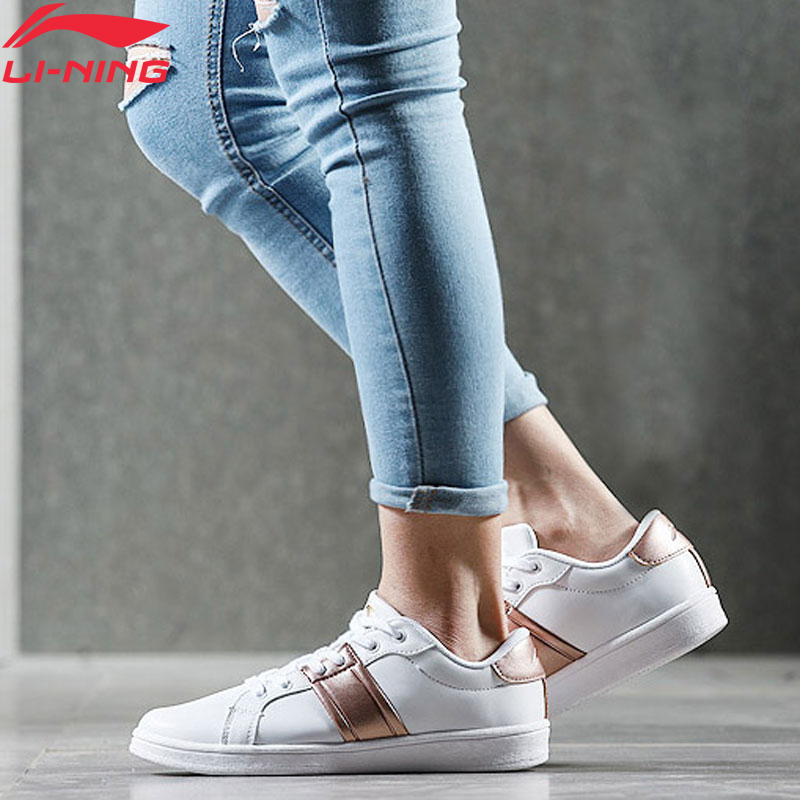 Li-Ning Women LN ETERNITY Classic Lifestyle Shoes Wearable Anti-Slip LiNing Li Ning Sport Shoes Comfort Sneakers AGCN064 YXB140