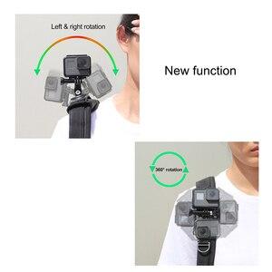 Image 2 - SOONSUN 360 Degree Rotation Adjustable Backpack Shoulder Strap Belt Mount for GoPro Hero 9 8 7 6 5 for DJI Osmo Action Accessory