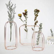1 шт. креативное Искусство ретро железная линия цветы ваза украшение металлический держатель для растений современные скандинавские стили железная ваза украшения для дома и сада